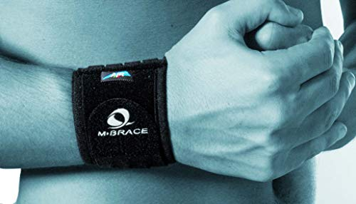 Wrist Compression Brace Mbrace Air, Wrist Wraps, Wrist Bands, Wrist Support, Wrist Band Easily Adjustable for Perfect Tension, Black, Breathable, Hypo Allergenic (Regular)