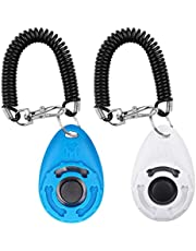 Dogs Clicker, [2 Pcs] Diyife Clickers for Dog Training with Wrist Strap Clicker Training for Dog Puppy Cat