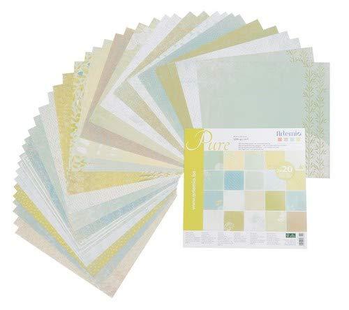 Collection Pure Artemio 11001804 Set de 40 Feuilles pour Scrapbooking 30,5 x 0,7 x 30,5 cm Papier Multicolore