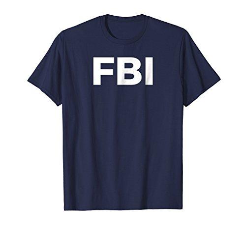 Mens FBI Halloween Costume T-Shirt Large (Fbi Halloween)