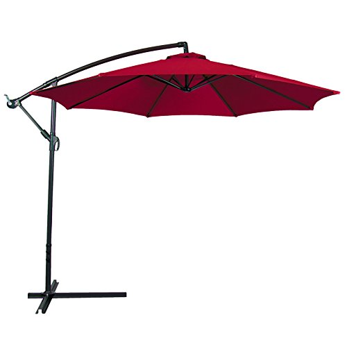 Patio Umbrella Offset 10' Hanging Umbrella Outdoor Market Umbrella New - What Size Do Frame I Need