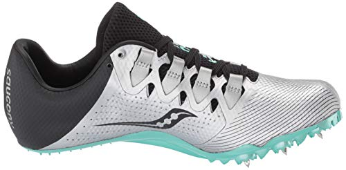 Saucony Women's Showdown 4 Track Shoe, Silver/Teal, 5 Medium US by Saucony (Image #7)