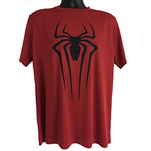 Mad Engine Marvel Spiderman Dri-Fit Red Mens T-Shirt (Large, Red)