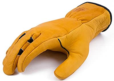 BEAR KNUCKLES Double Wedge-Ultimate Grip-Ergonomic-Anti-fatigue Cowhide Leather Work Gloves (X-large-1 Pair)