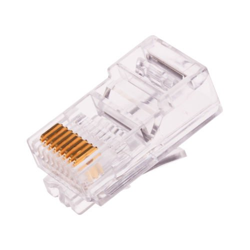 yan/_100pcs RJ45 network Modular CAT-5 E 8P8C Plug Crimp Connector strand