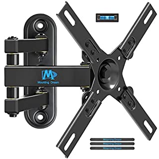 MD Mounting Dream Monitor Bracket TV Wall Mount for most 17-39 Inches LED, LCD TVs,TV Mount with Full Motion Articulating Arm up to VESA 200x200mm and 33 LBS, with Tilt and Swivel MD2463-L