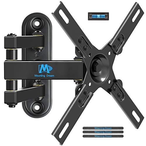 Mounting Dream MD2463-L TV Wall Mount Monitor Bracket with Full Motion Articulating Arm for most 17-39 Inches LED, LCD TVs up to VESA 200x200mm and 33 LBS, with Tilt and Swivel