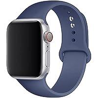 HZS Silikonband för Apple Watch-armband 44mm 40mm 42mm 38mm Armband Sportarmband iWatch Serie1/2/3/4/5/6 se rem