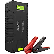 1000A Peak Current 20000mAh 12-Volt Portable Car Jump Starter (Fully Support Gasoline Vehicle, Up to 8.0L Diesel Engine) Battery Booster Power Bank With LED Emergency Flashlight by Dr.Auto