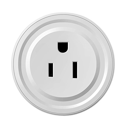 Smart Plug Wi-Fi Mini Socket Outlet Compatible with Alexa Wireless Control Your Devices from Anywhere, ETL Certificated Timing Function For Smart Phone Voice Control for Home Appliances White by MiniInTheBox