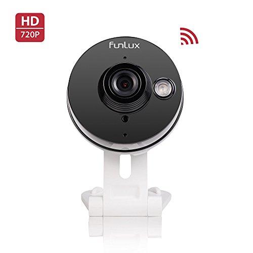 Funlux Camera CH-S1R-WA 720p HD Mini WiFi w/Two-Way Audio + Remote Monitoring Brown Box
