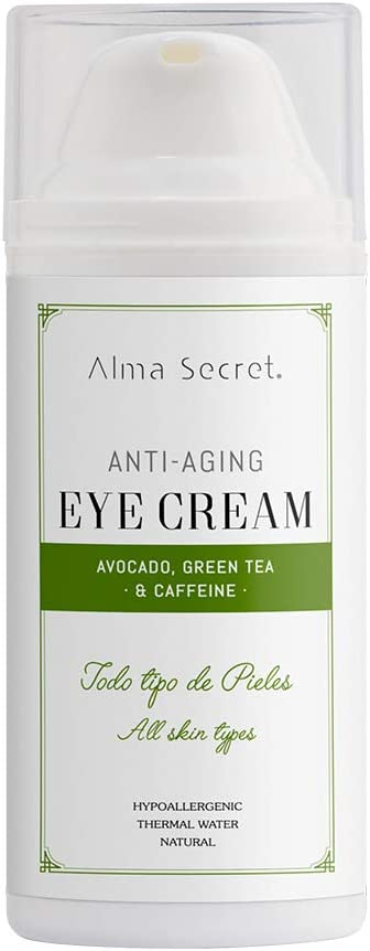 Alma Secret Contorno de Ojos Antiedad con Aguacate, Té Verde & Cafeína - 30 ml