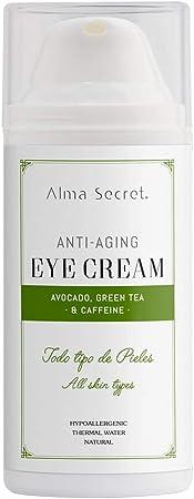 Alma Secret Contorno de Ojos Antiedad con Aguacate, Té Verde