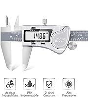 Dijite Calibro Digitale Impermeabile IP54 in Acciaio Inossidabile, Professionale Preciso Calibro Digitale, da Esterno Interno 150mm / 6 inch Grande Chiaro Schermo con Coperhio Lega Alluminio