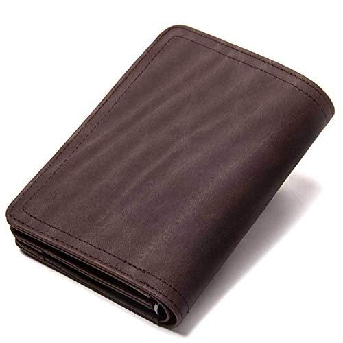 Moda Vaquero De Scsy La Hombres Retro Bolso Funciones Embrague Y Exquisito Brown Cuero Múltiples Billetera bags Loco Del Pequeño Los wTXTxpqa