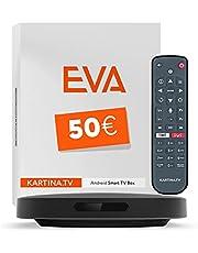 Kartina Eva IPTV Receiver Russische televisie! Ondersteunt 4K, WiFi 2.4G/5G/USB, Micro SD, Android TV. Officiële Shop van Kartina.TV!