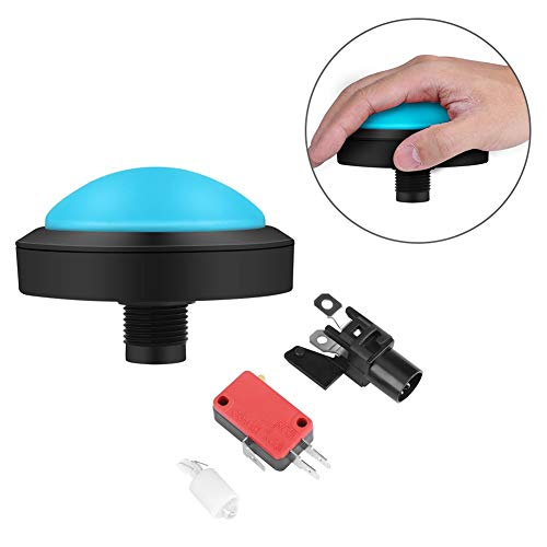 Yuehuam Arcade Buttons and Joystick Kits DIY Controller 100mm Massive  Arcade Button with LED Convexity Console Replacement (Color : Blue5)