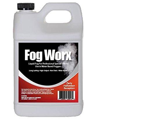 [FogWorx Fog Juice - 1 Gallon of Organic Fog Fluid (128 oz) - High Output Long Lasting Fog Machine] (Party Fog Machine)
