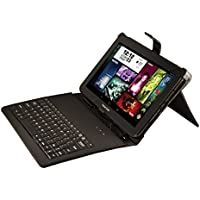 Visual Land Prestige Elite 10 Quad Core Tablet with KitKat 4.4, Google Play and Keyboard Bundle  (Black)
