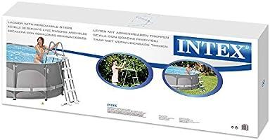 Escalera de seguridad Intex 28073 (4 peldaños) para paredes de 122 cm de altura: Amazon.es: Jardín