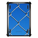CUSTOM Black OtterBox Defender Series Case for Apple iPad Mini 1 / 2 / 3 (Touch ID Compatible) - Chain Link Fence Sky