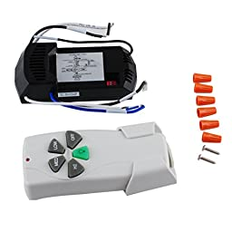 PODOY 5 Buttons 43147 Ceiling Fan Remote Control Kit for Harbor Breeze Universal 220V