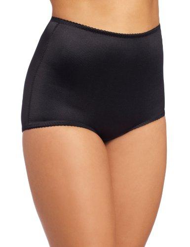Rago Women's Control Panty Brief, Black, Medium (28)