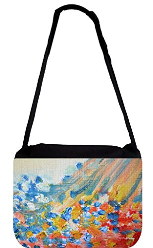 Abstract Oil Paint Print-TM Medium Sized Laptop Messenger Bag 11.75