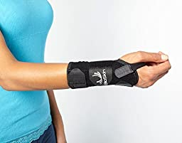 DP2 BioSkin 6-inch Wrist Brace (M-L) RIGHT HAND — Hypoallergenic Support for Carpal Tunnel, Tendonitis, and Arthritis Pain
