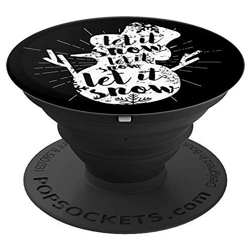 (Cute Christmas Snowflake Snowman Xmas Let it Snow - PopSockets Grip and Stand for Phones and Tablets)