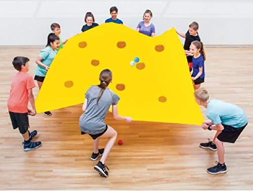 (Sonyabecca Hole Tarp Team Building Exercise Activities Games Teamwork Group Learning Fun Playing 84''Lx55''W)