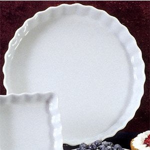 BIA Cordon Bleu 1-Quart Round Quiche, White (900078) (Dish Quiche Ceramic)