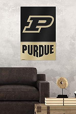 Trends International Purdue University-Logo Wall Poster 24.25 x 35.75 Multi