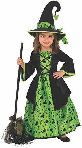 4t Witch Costume (Rubie's Witch Child's Costume, Green,)