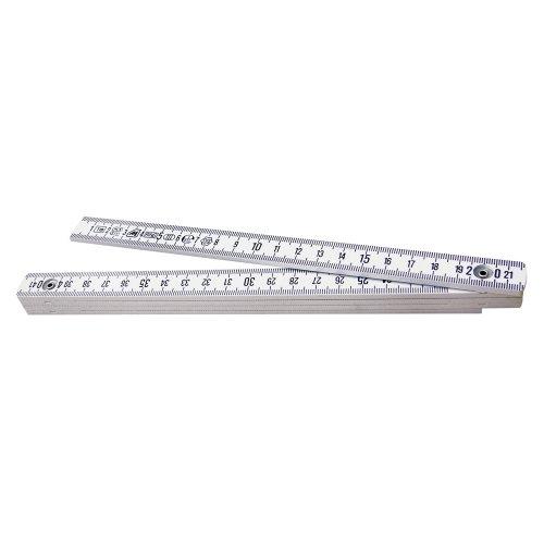 Metrica 19010 Glasfaser-Massstab 1 m, weiß