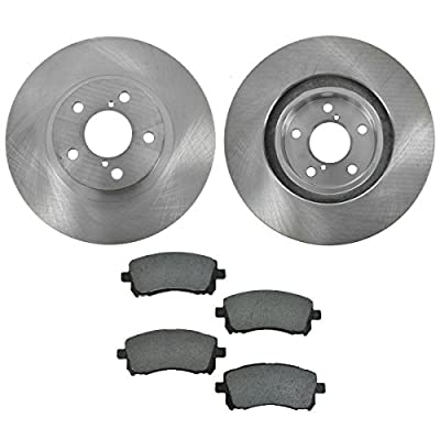 Front Disc Brake Pad & Rotor Kit for Forester Outback Impreza Legacy: Automotive
