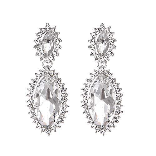 Youfir Bridal Sparkly Rhinestone Crystal Wedding Earrings for Bridesmaids Gift(Clear) by Youfir