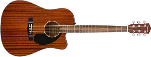 Fender CD-60SCE All Mahogany Acoustic-Electric Guitar - Dreadnaught Body Style - Natural (Ash Acoustic Electric Guitar)