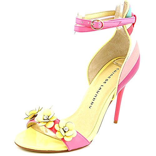 Chinese Laundry Lilly Two-Piece Flower Sandals Women's Shoes Stripe Lily Pink Multi Size 9