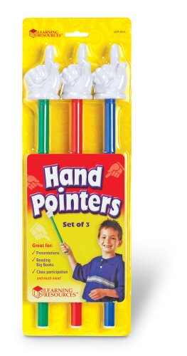 Learning Resources Hand Pointers, Set of 3