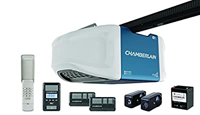 Chamberlain WD1000WF 1-1/4 HPS Smartphone Controlled Wi-Fi Garage Door Opener with Battery Backup and Ultra-Quiet Operation by Chamberlain