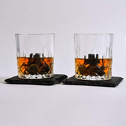 Bold Antler Whiskey Stones Set | Bar Accessories with Shot Glasses, Coasters and Granite Cubes in Wooden Box | No Ice Melt Bourbon, Scotch, Brandy Glass | Best Birthday or Anniversary Gift for Men by Bold Antler (Image #1)