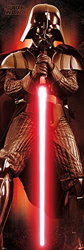 POSTER STOP ONLINE Star Wars - Door Movie Poster/Print (Darth Vader with Lightsaber) (Size: 21