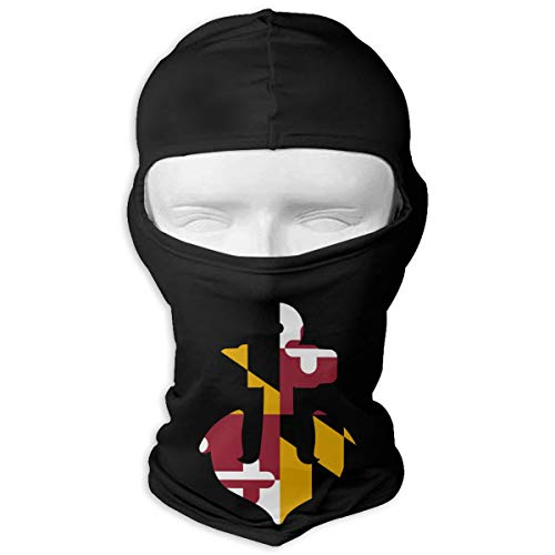(Maryland Anchor Shaped Scuba Dive Flag Full Face Mask Hood,Outdoor Cycling Ski Motorcycle Balaclava Mask Black)