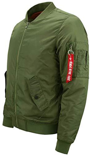 Hombre Piloto De Ma1 Chaqueta N1 Dick Acolchado Hombres De Bombardero De Ligero Chaqueta Chaqueta Vuelo De Bombardero para Estilo grün Clásico Simple para Bombardero De ORnarO
