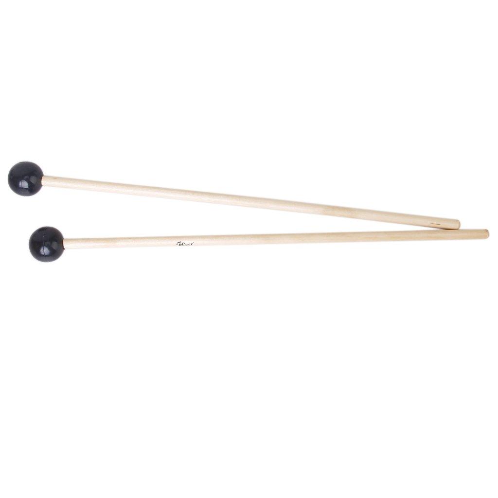 Set 2 Hardwood Glockenspiel Mallets Sticks Rubber Head Generic ST-ZV144-ZX