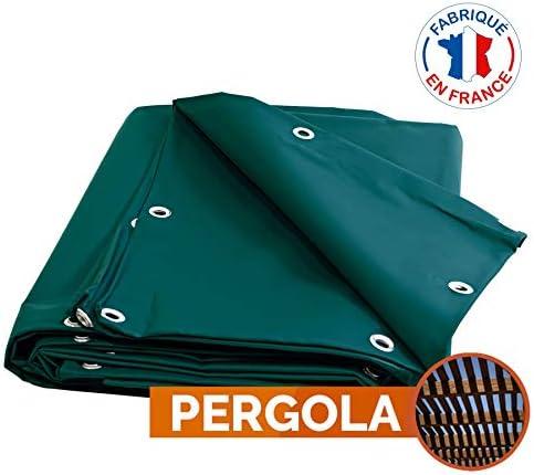 Toldo Pergola PVC 900 G/m² – 8 x 12 m – verde – lona ...