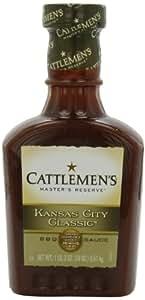 Cattlemen's Award Winning Kansas City Classic Barbecue Sauce, 18-Ounce Plastic Bottles (Pack of 6)
