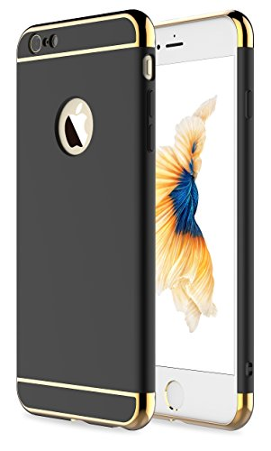 iPhone 6 Case,iPhone 6s Case, RORSOU 3 In 1 Ultra Thin and Slim Hard Case Coated Non Slip Matte Surface with Electroplate Frame for Apple iPhone 6(4.7