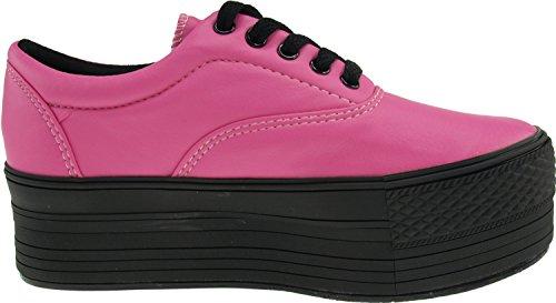 Maxstar C50 5-Holes Low-Top Casual Platform Boat Sneakers Shoes Tc-pink 0fJGuW1